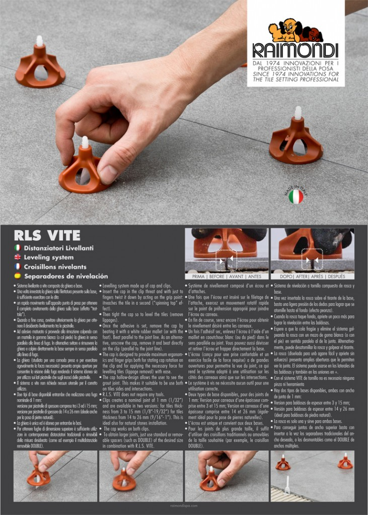 Raimondi s.p.a. professional tile tools New products ...